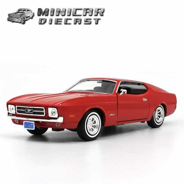 1/24 箱入り  ミニカー 1971 FORD MUSTANG  SPORTSROOF レッド 1971年 フォード マスタング ムスタング スポーツルーフ 赤 アメ車 モーターマックス社製