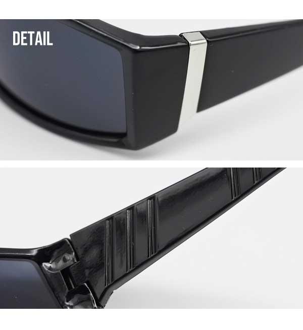 ローク サングラス メンズ プレーン 008 全2種 ブラック ツヤ有り ツヤ消し マット ロークサングラス ローライダー ハーレー チカーノ チカーノファッション チョロスタイル 黒