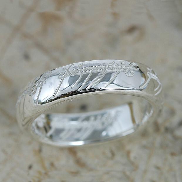 ロードオブザリング ホビット思いがけない冒険 The One Ring(ザ ワンリング)シルバー リング