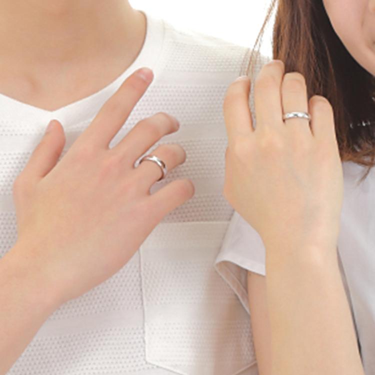 リラックマ サムシングブルーダイヤ ペアリング 指輪