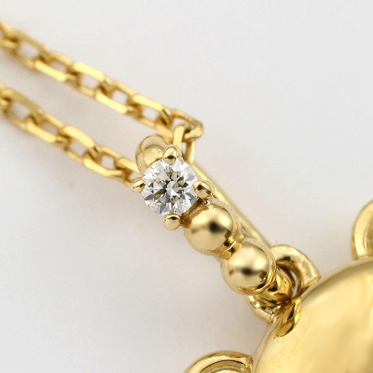 リラックマ 18金 ダイヤモンド ネックレス