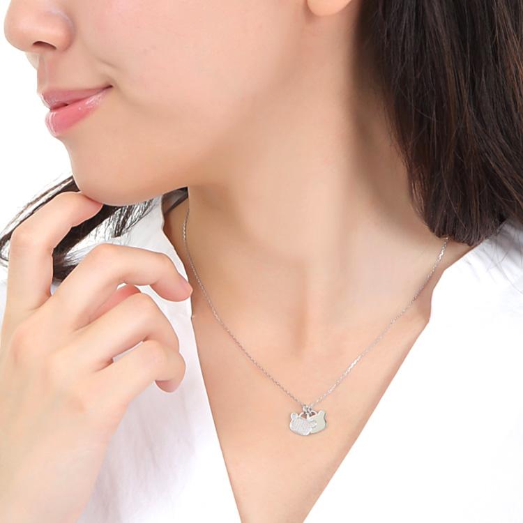 リラックマ ダブル プレート ネックレス