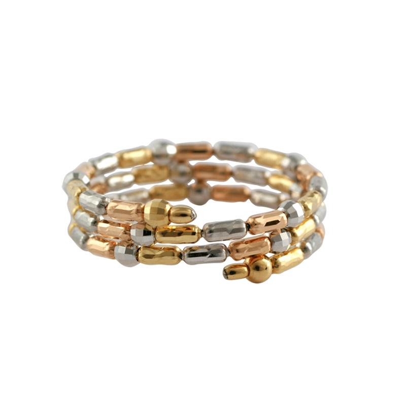K18 3カラー 形状記憶 スパイラルリング 〜Comfort Jewelry〜