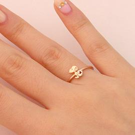 スヌーピー リング 10金  レターリング K10 ring