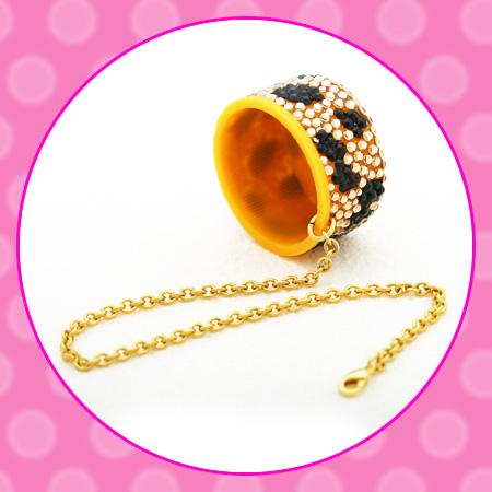 ハローキティ ×tinkpinkヒョウ柄ペットボトルキャップ ティンク ピンク