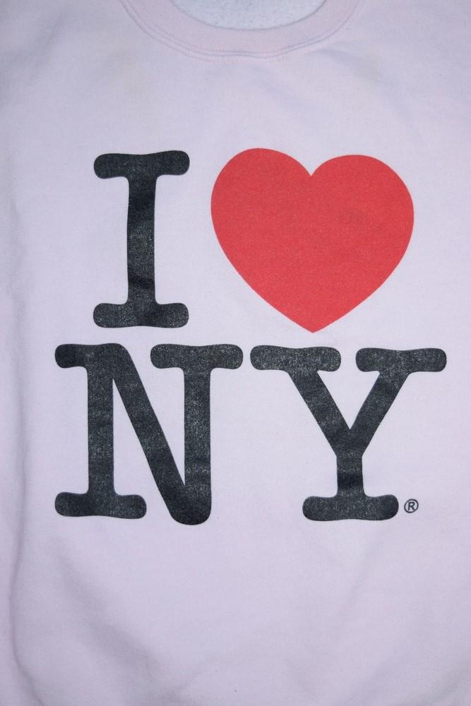 "【WEB限定】""I LOVE NY"" DARLING SWEAT (LIGHT PINK)"