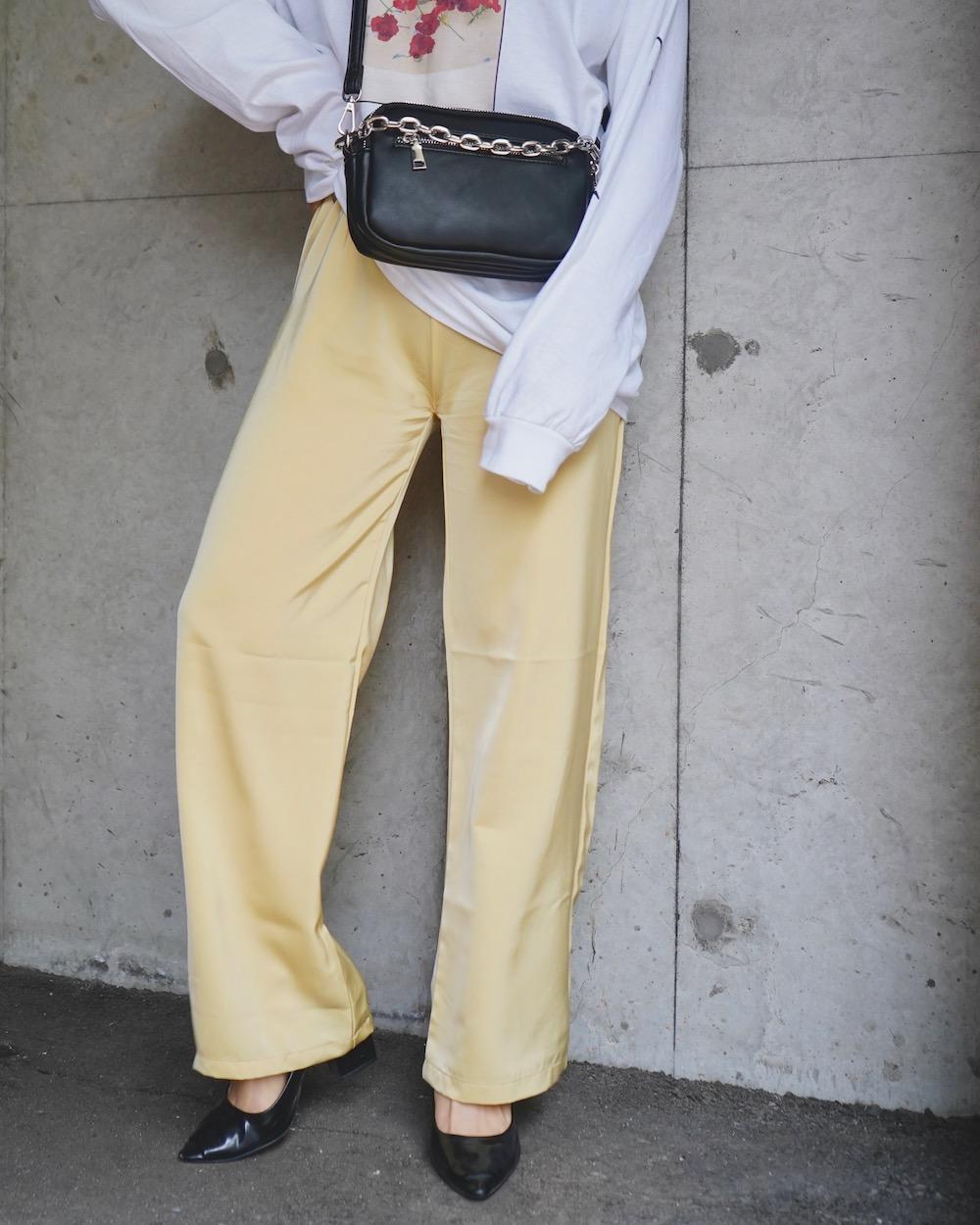 Shiny Easy Pants (lemon yellow)