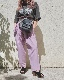 Two Tuck Tapered Pants (lilac) *with Belt