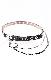 Silver Chain&Eyelet Belt 2P SET (black)