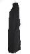 Ring Half Zip Rib Maxi-Onepiece (black)