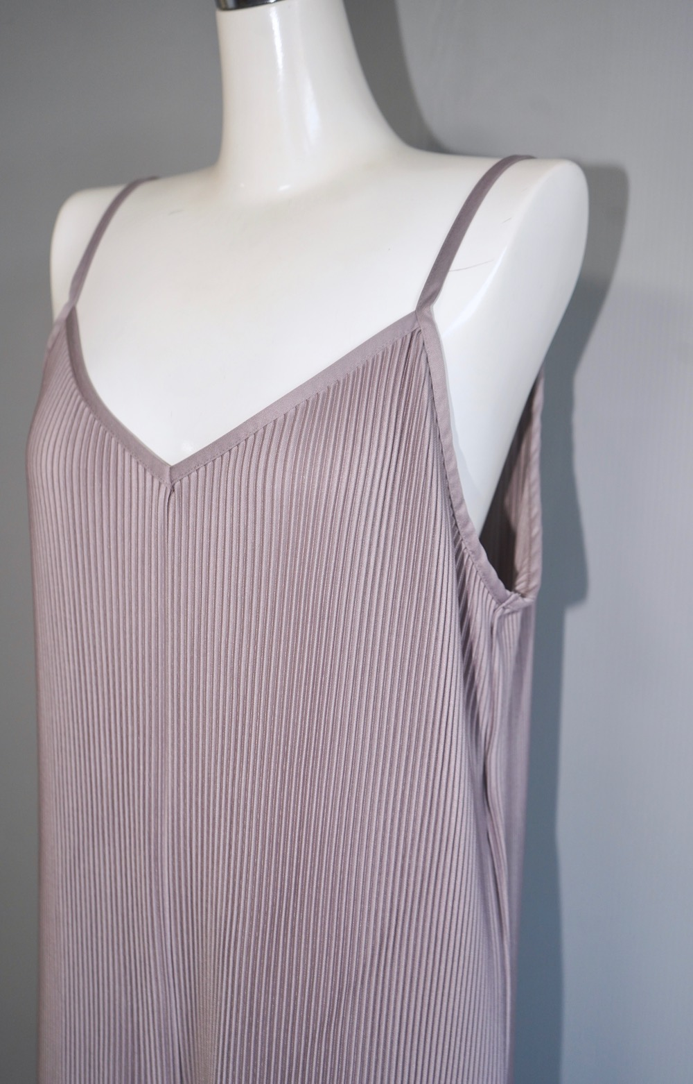 Pleats Cami-Rompers (Dusty Lavender)