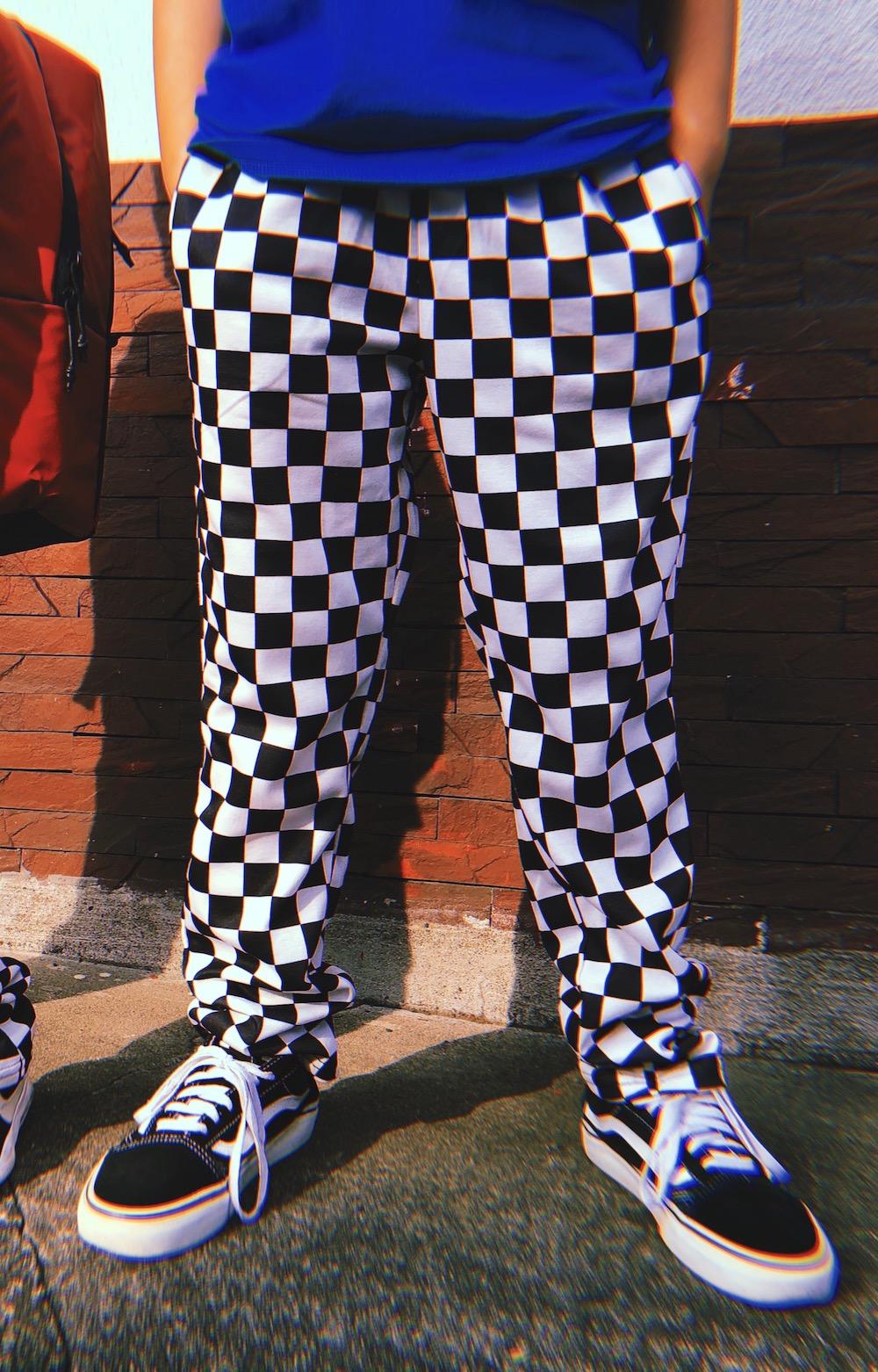 【KIDS】CHECKERED EASY PANTS -ASSAULT BLUE-