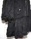 Pleats Switching Long MA-1 Jacket Coat (black)