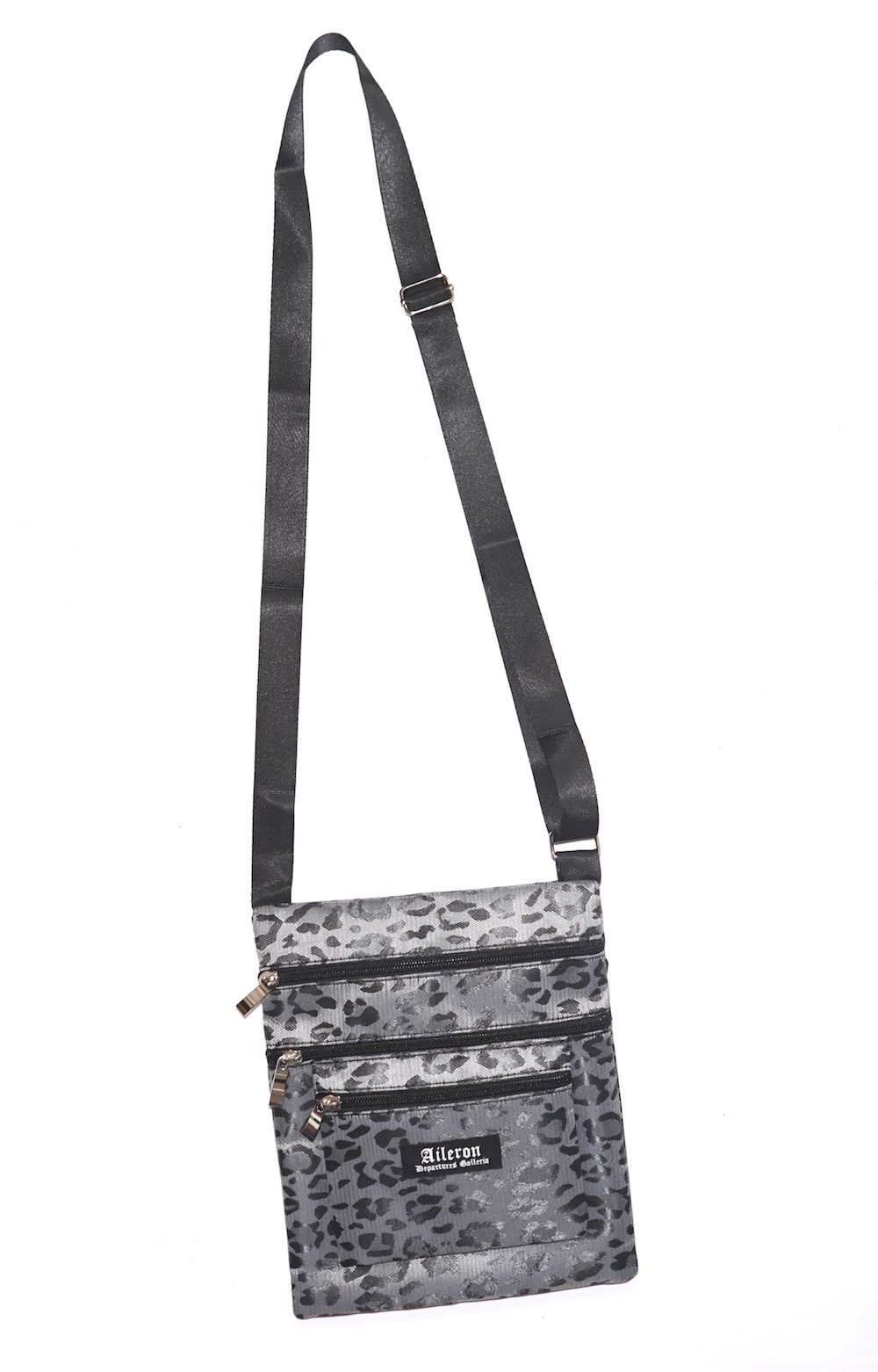 ADG LEOPARD SACOCHE BAG (black)