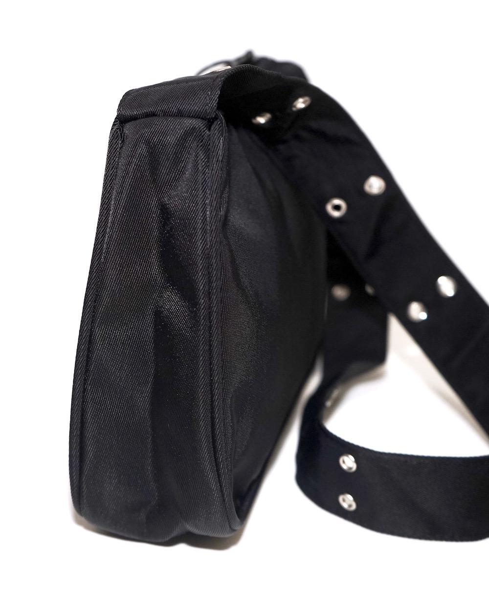 """A.D.G"" Eyelet Strap Nylon Square Bag"