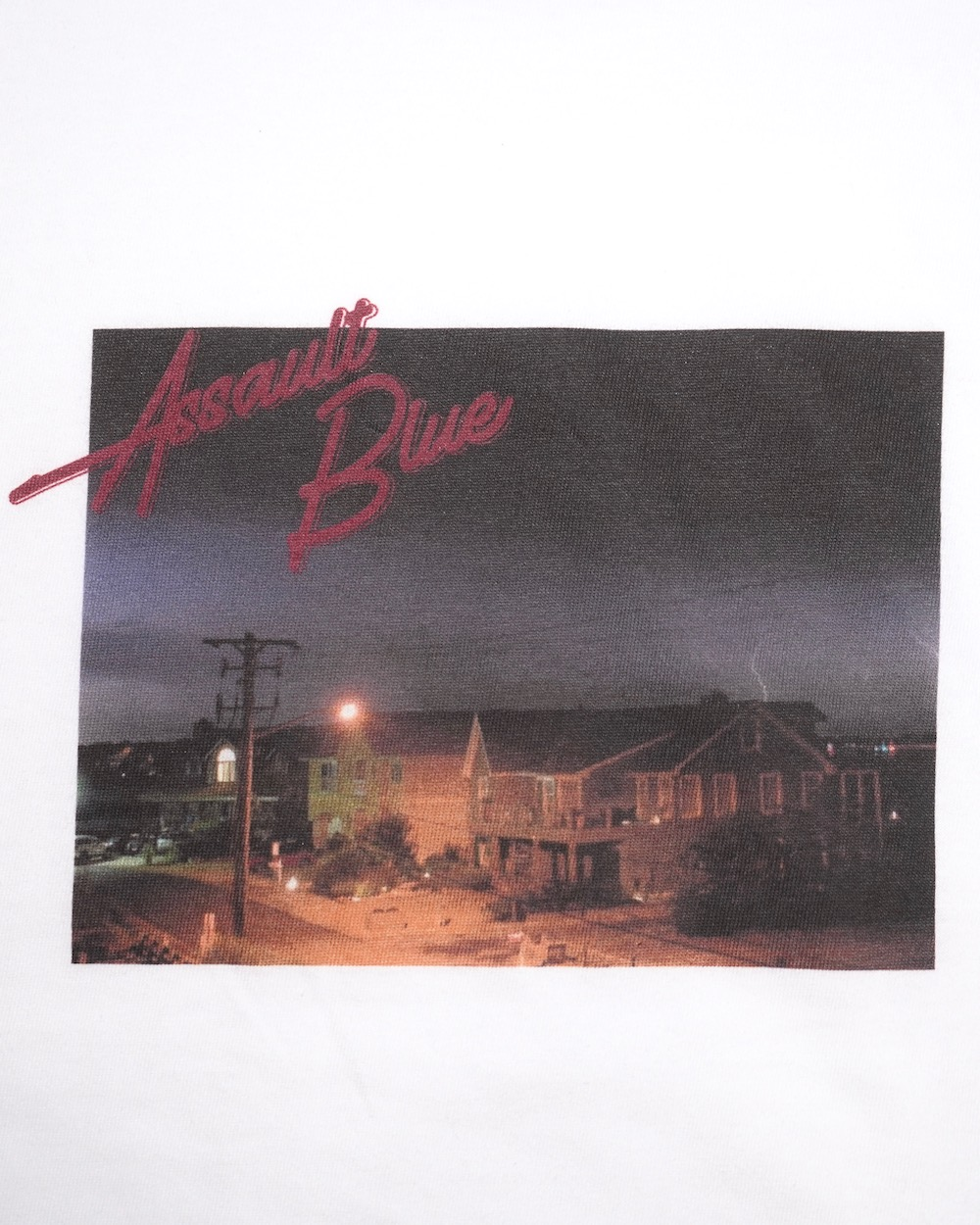 LIGHTNING SKY PHOTO RINGER T-SHIRTS -ASSAULT BLUE-