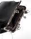 Silver Chain Strap Purse Frame Bag (black)