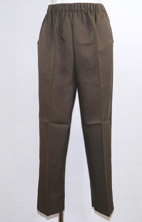 Gun Club Check Easy Tapered Pants (brown)