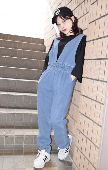 (全2色)デニムジャンプスーツ