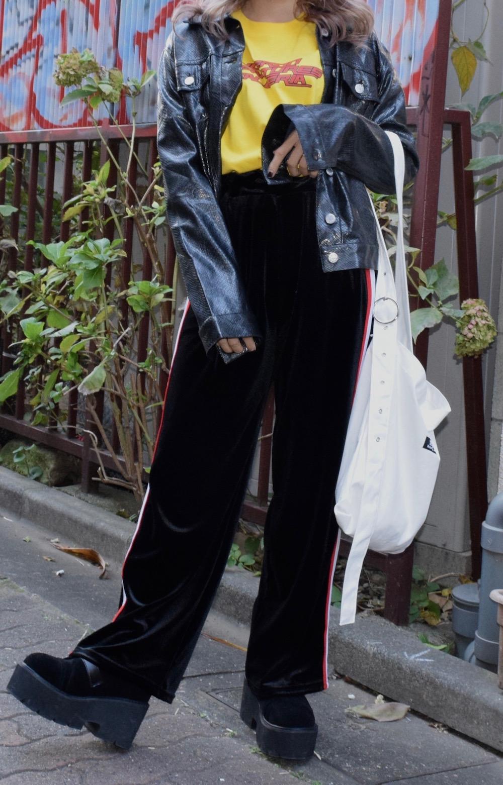 【WEB限定】PVC SNAKE JACKET(BLK)