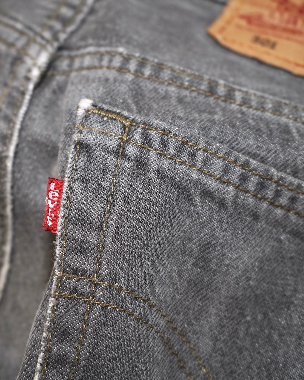"""Levi's"" 501 Black Washed Denim Pants"