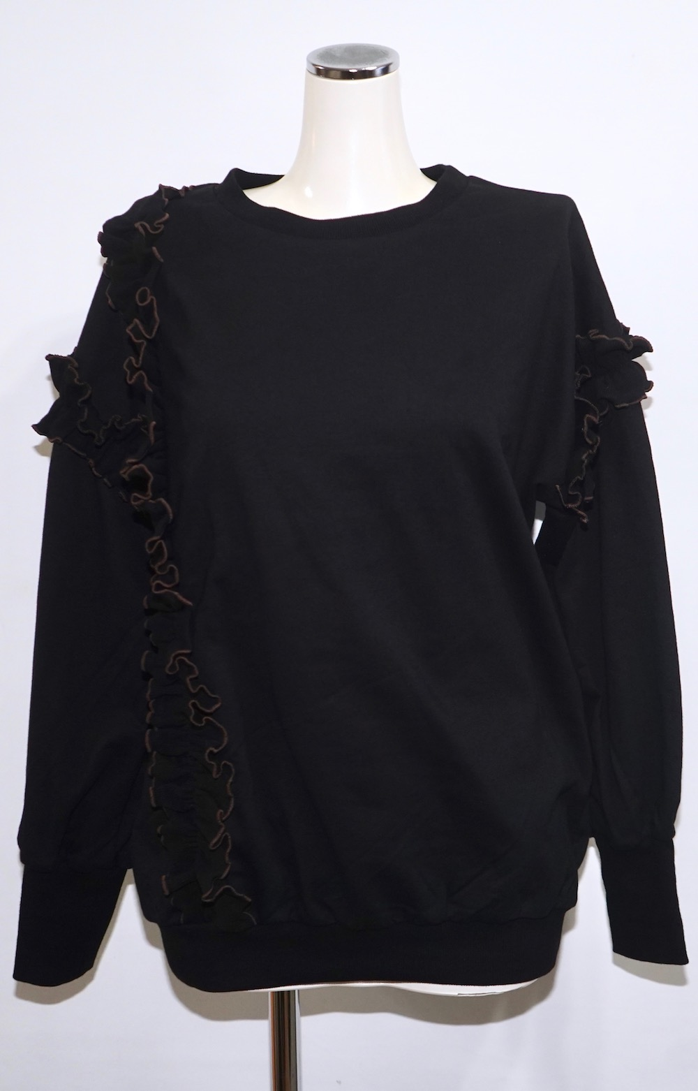 Piping Frill Big Sweat PO (black)
