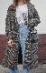 Gun Club Check Long Chester Coat (Dark brown)