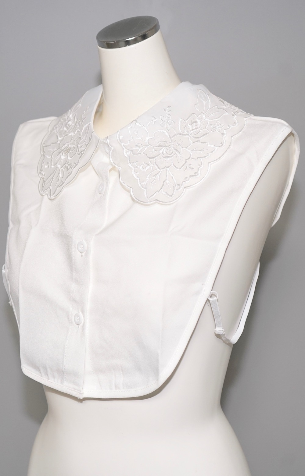 Flower Organdy Big Collar (white)