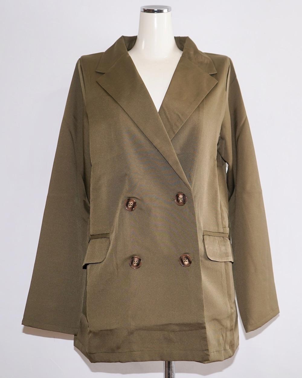 Double Breasted Tailored Jacket (khaki)