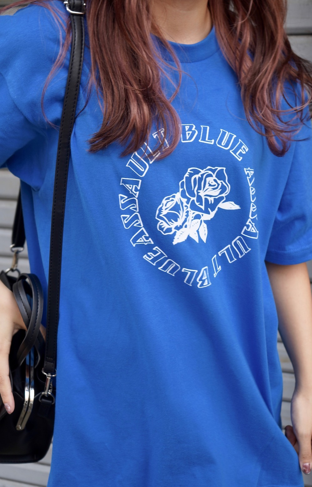ROSE CIRCLE LOGO T-SHIRTS -ASSAULT BLUE-