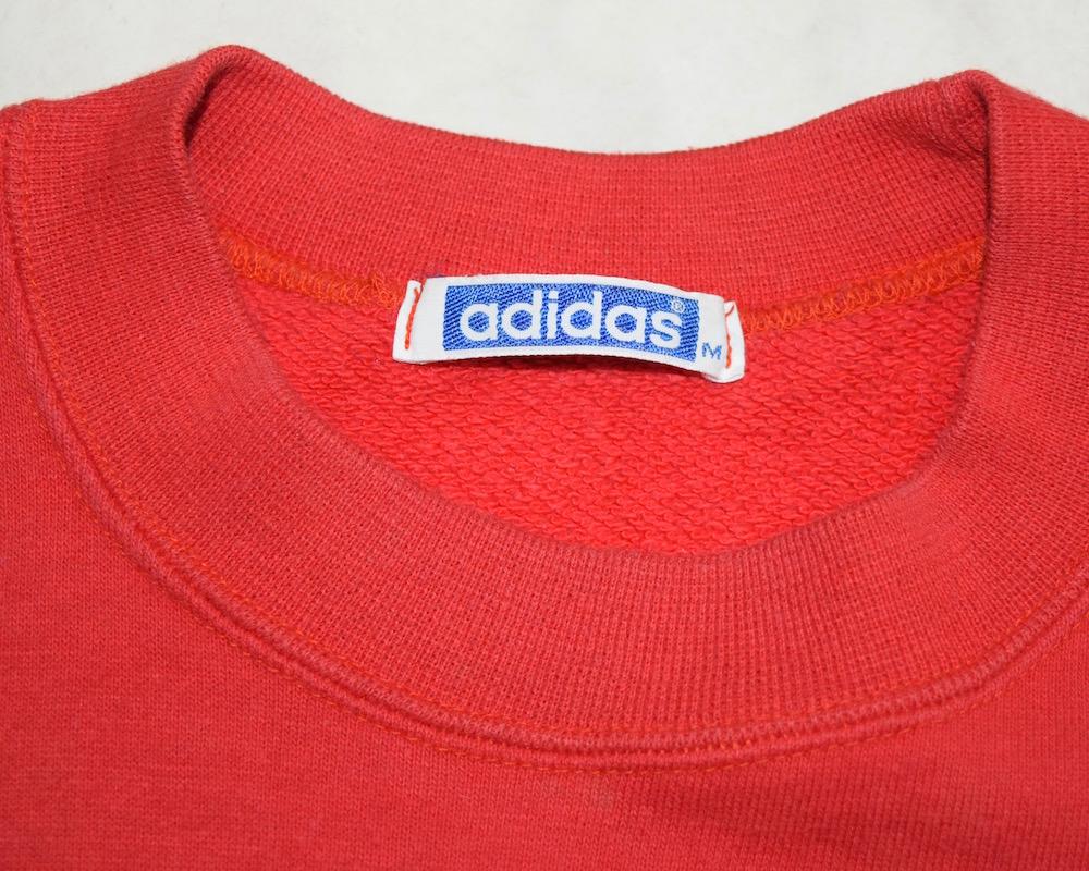 """adidas"" 1point Logo S/S Sweat PO(RED)"