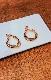Chain&Ring Hoop Earrings (gold)