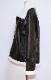 Leather Touch Boa B-3 Jacket Coat (black)