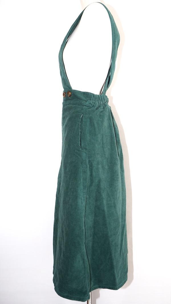 2way Corduroy Flare Jumper Skirt (green)