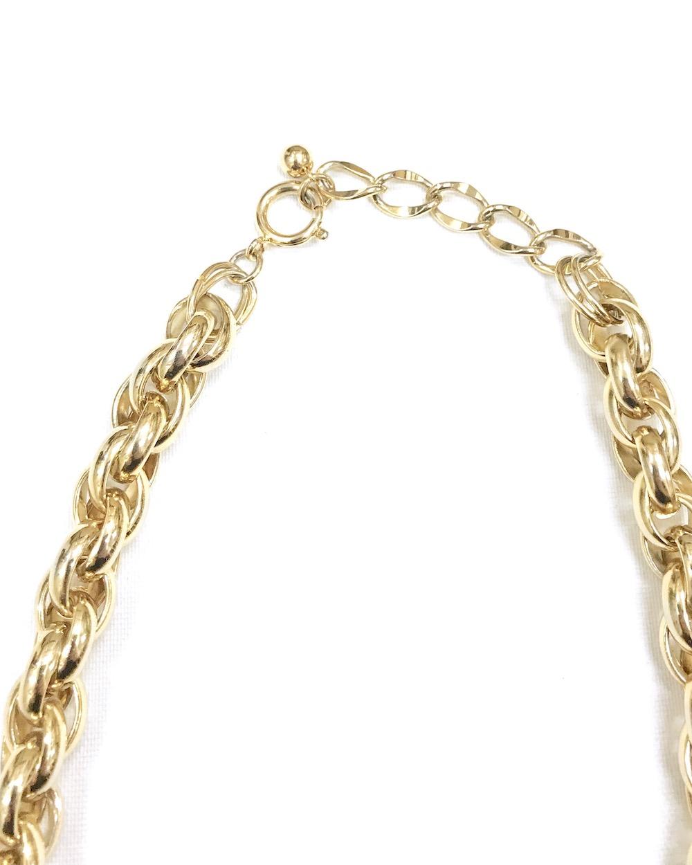 Gold Random Chain Maxi Necklace