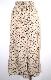 Black Flower Long Flare Skirt (beige)