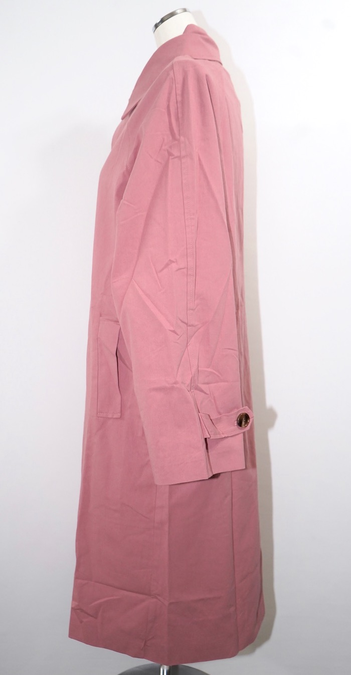 Soutien Collar Long Coat (dusty pink)