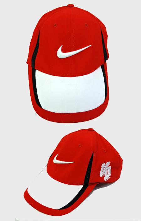 NIKE Swoosh Logo 6 Panel Cap(RED/WHT)