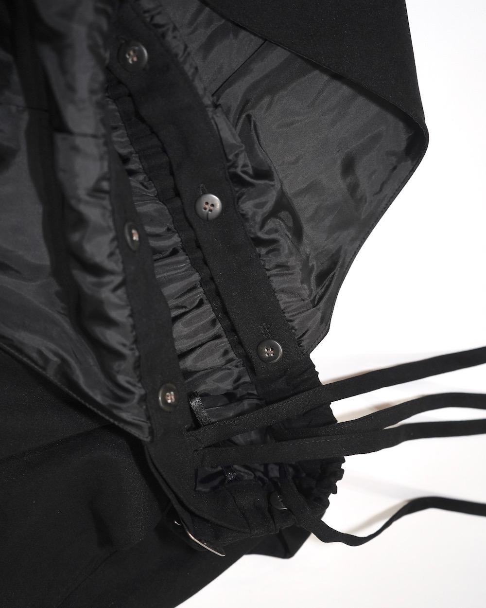 2way 2type Strap Jumper Long Skirt (black)