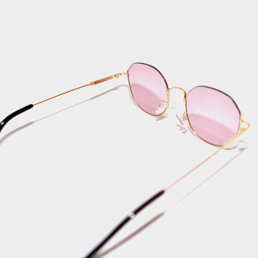 Asymme-Frame Tint Sunglass (purple lens-Gold frame)