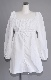Lace-Up Puffsleeve Mini Onepiece(white)