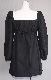 Lace-Up Puffsleeve Mini Onepiece(black)