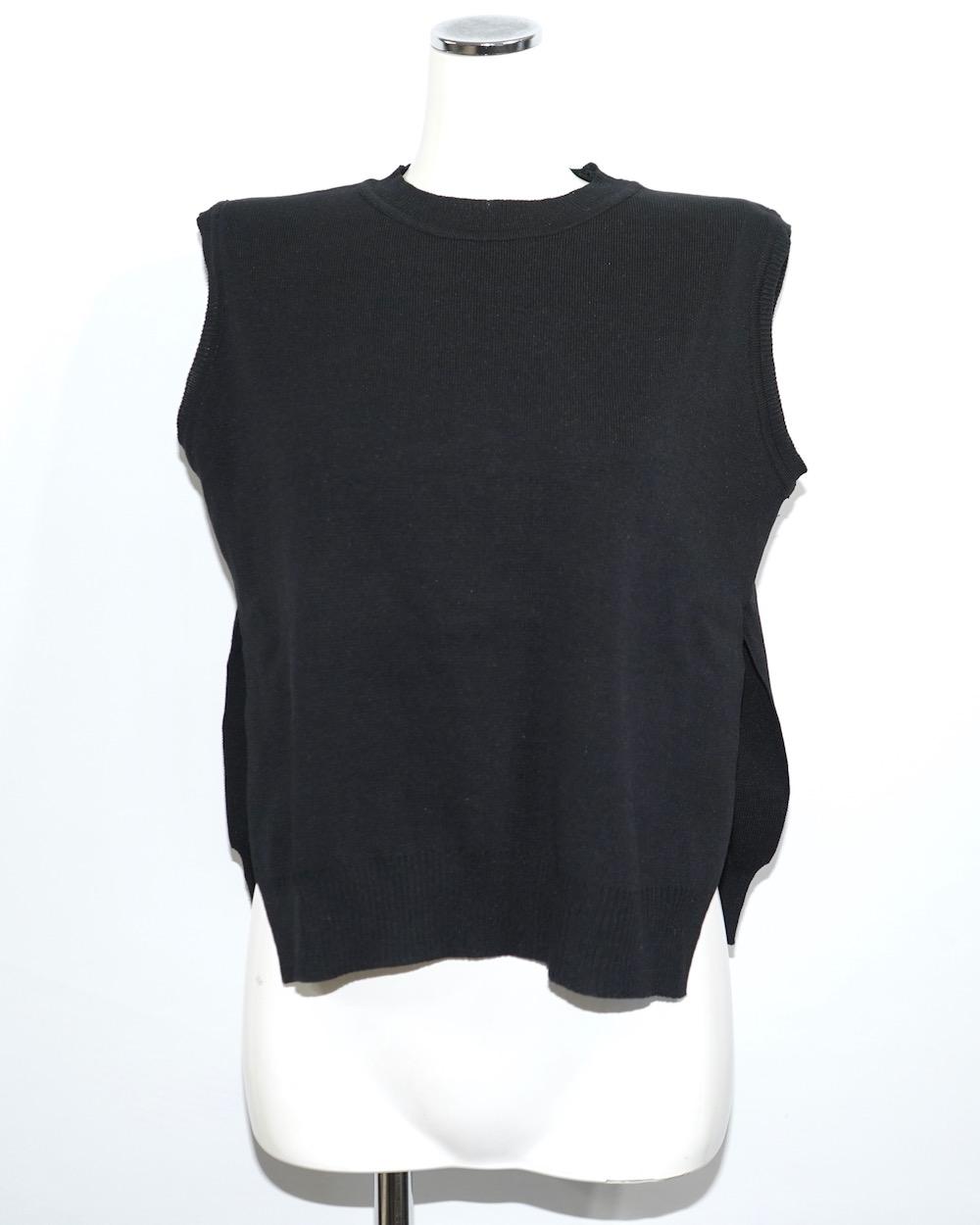 Stripe Blouse&Knit Vest 2P SET