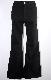 Stretch Denim Flare Pants (black)