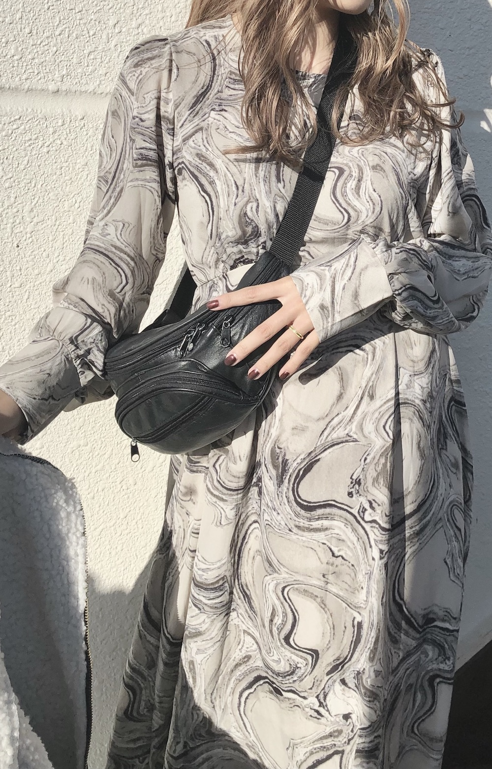 Marble Flare Long Onepiece (grey)
