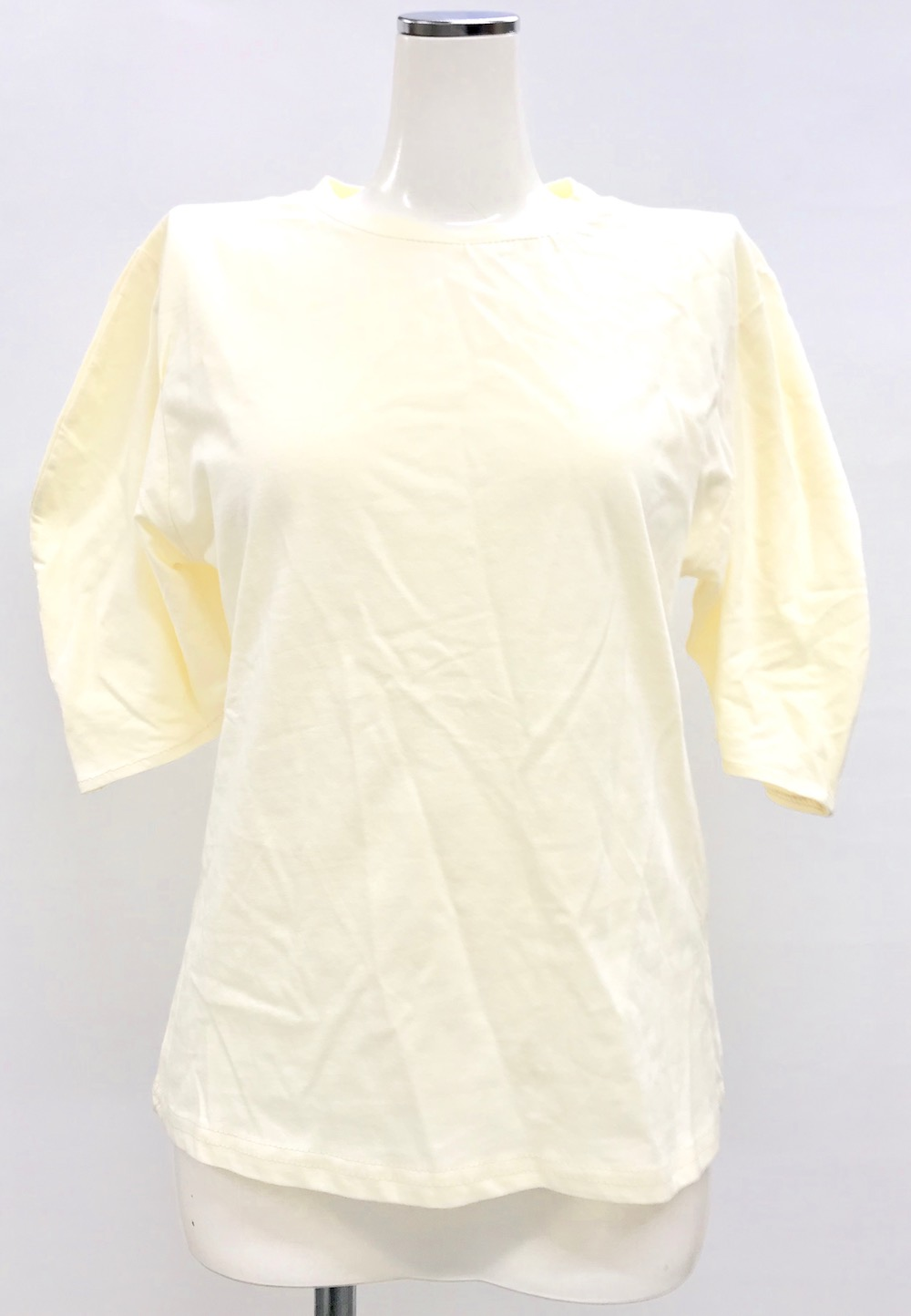 Puffsleeve Basic T-shirts(ecru)