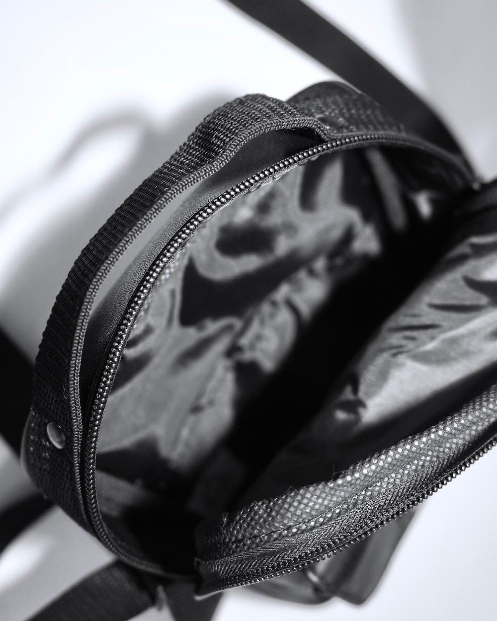 """""""A.D.G"""" Flap-Pocket Leather Shoulder Bag"""