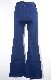 Stretch Denim Flare Pants (blue)