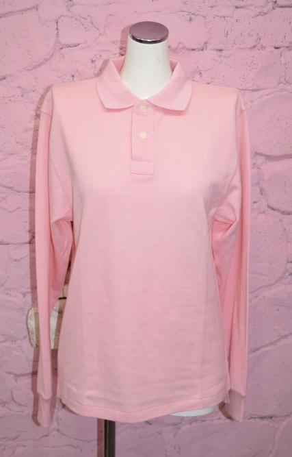 ※残り2点 Baby Pink L/S Polo Shirts