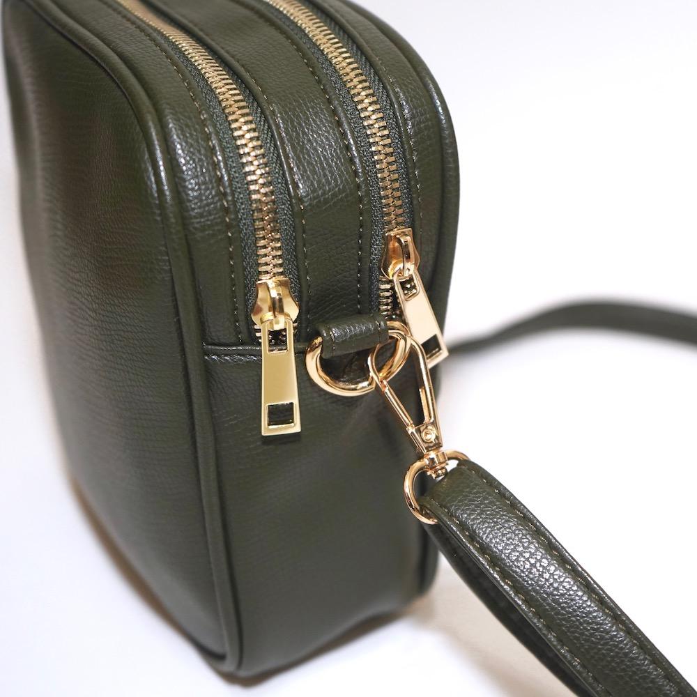 Bit Leather Shoulder Bag (green)